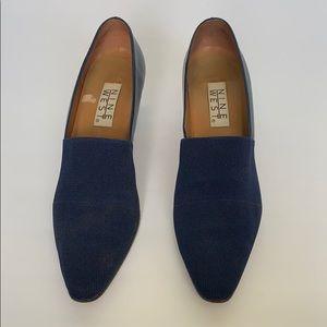 Vintage NINE WEST Blue Leather Heels